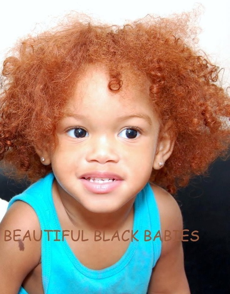 Black Kid With Natural Red Hair